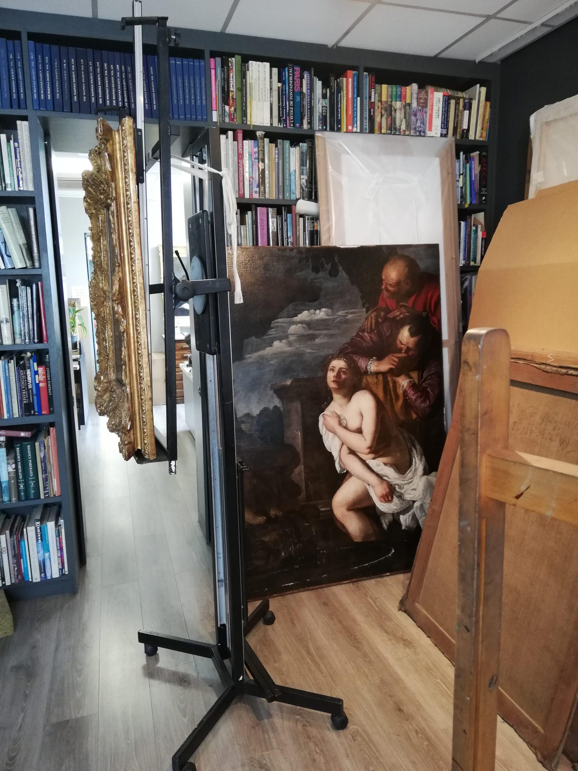 Artemisia Gentileschi in Simon Gillespie's studio